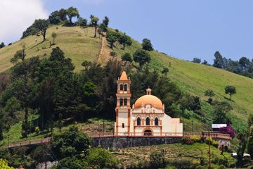 Orthodox Church on near mountain top in the mountains of Veracruz State, Mexico.