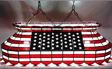 All american lamps pool table lamps billiard lights all usa flag pool table lamp pool tables for sale greentooth Images
