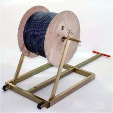 "alt=""Cable wire reel holder heavy duty"""