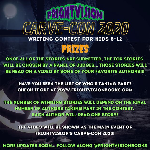 FrightVision presents the Carve-Con 2020 Writing Contest For Kids 8-12!