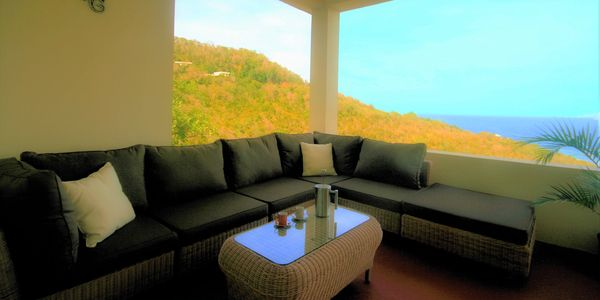 casual lounging with a view. Spring valley bequia