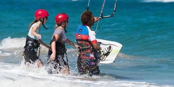 We offer one on one and two to one lessons for the best  kite surfing instruction from our staff.