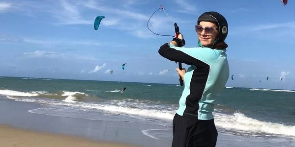 Entry level kite surfing lessons are the best way to get started in kitesurfing while at Optimal.