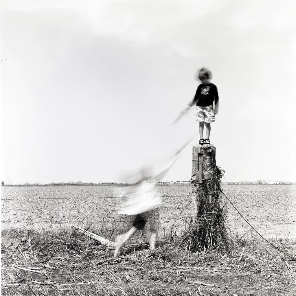 "Award winning image, ""Encountering."" Captured on 4x5 film, printed by hand as platinotype."