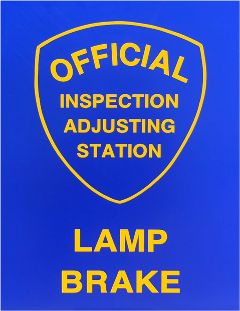 We Offer Brake & Lamp inspection Certification