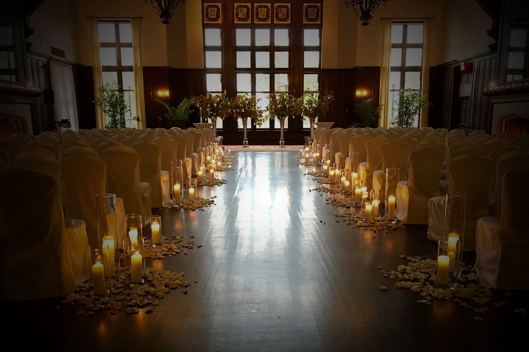 One Fine Day Ceremony Officiants Candlelit Aisle, Chicago Officiants, Romantic, Dream Ceremony