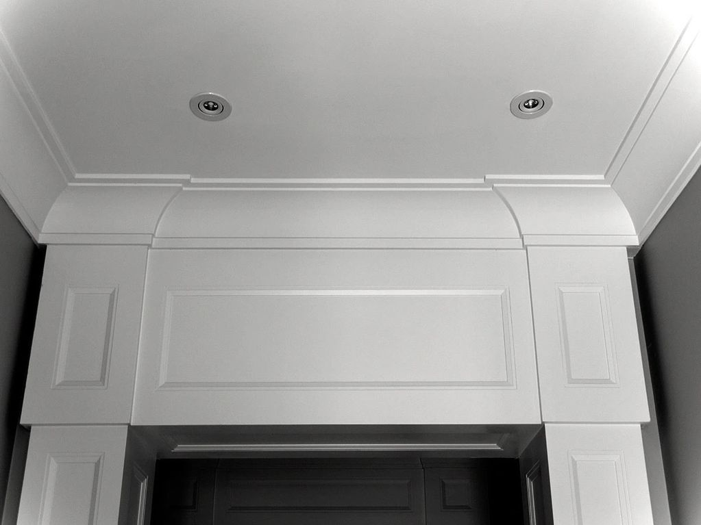 polystyrene crown moulding with plaster coating