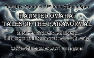 haunted paranormal library omaha