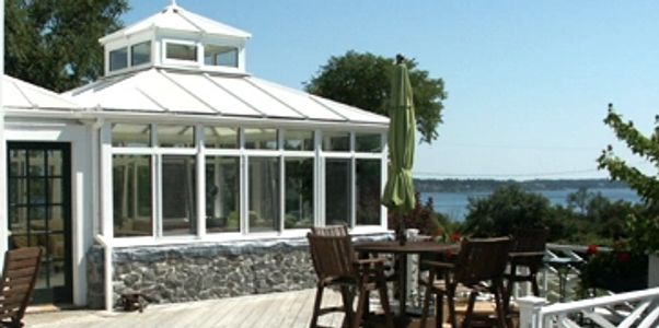 Consevarory, Harpswell, heat pump, Deck, chimney, Glass