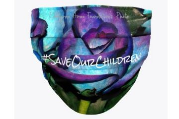 #SaveOurChildren Roses Face Mask