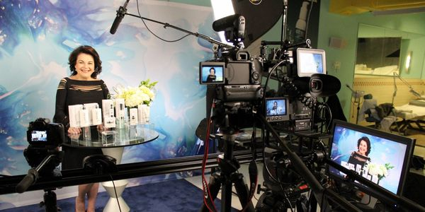 President of Repechage introducing skin care video