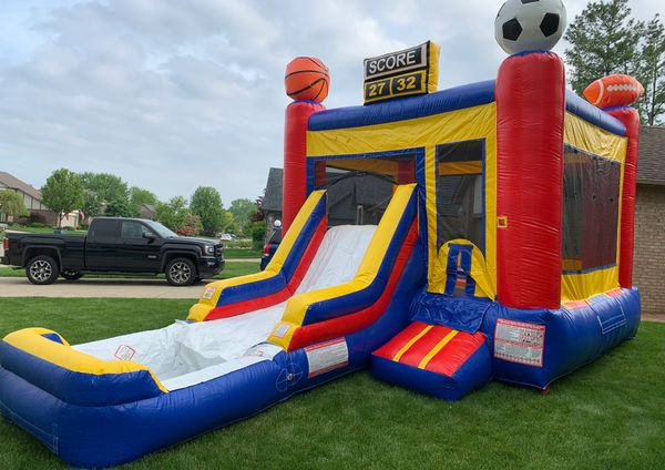 INFLATABLE WATER SLIDE & BOUNCE HOUSE