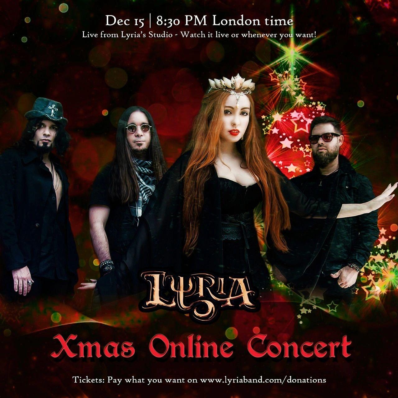 Lyria realiza show online de Natal para os fãs
