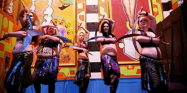 Belly dancers performing at The Tabernacle in Buffalo NY.