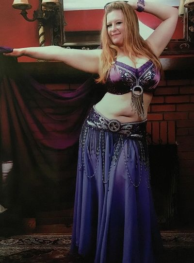 Cassie of Zuut belly dancing in Buffalo NY.