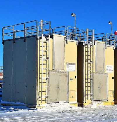 Non Corrosive fiberglass buildings. Insulated, high strength buildings for harsh arctic climate. FRP