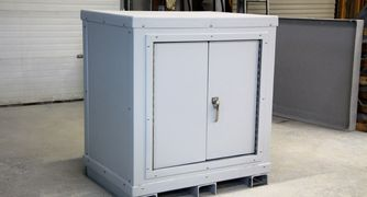 Custom Cabinet Design Non Corrosive  Modular Fiberglass durable chemical containment Equipment Cover