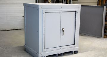 Fiberglass Cabinets, corrosion resistant, chemical containment, Fiberglass Equipment Cover, durable