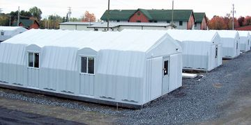 Portable, Sustainable, Barracks, Mess Hall, Fiberglass, Storage Enclosures, Military accommodation