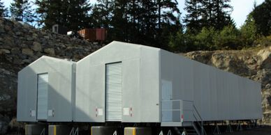 Modular Fiberglass buildings are for micro fulfillment, storage. Warehouses are strong and portable.