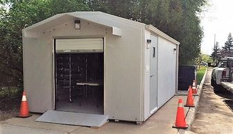 Modular Storage Enclosure Fiberglass Portable Innovative Custom Design  Strong   Expandable