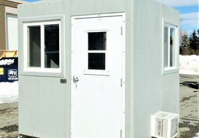 RM Products Ltd. Portable Modular Office, ticket Kiosk fiberglass guard house Portable office.