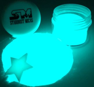 glow in the dark mica powder