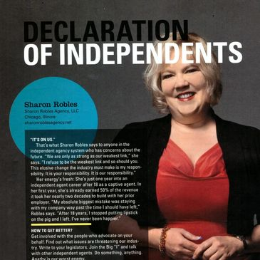 Sharon Robles IA Magazine Declaration of Independents