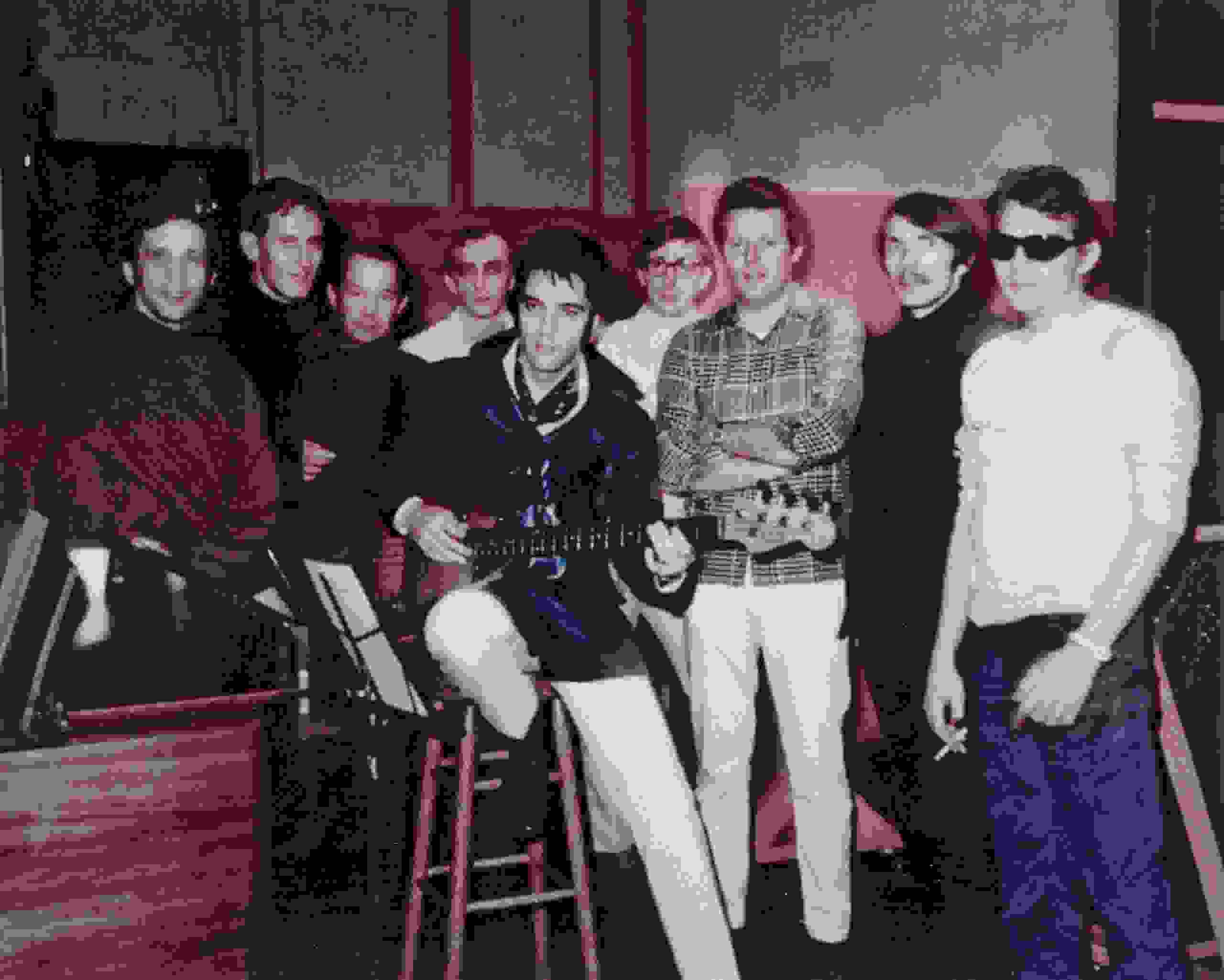 Elvis and the Memphis Boys at American Sound Studio in 1969.