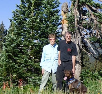 Katherine and Joseph Colwell exploring the high country near their Colwell Cedars Retreat.