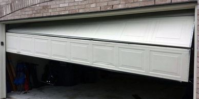 garage door off track repair surrey