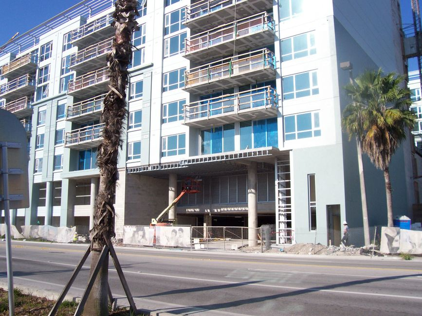 Place at Channel Side condos Tampa Florida In-Fill Rhino Wall Systems
