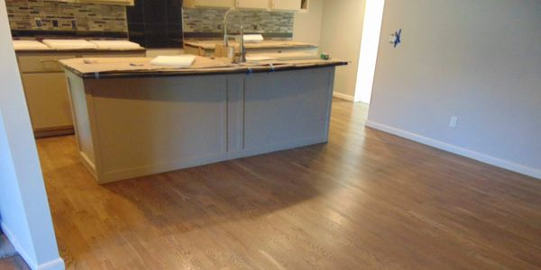 hard wood flooring in a kitchen