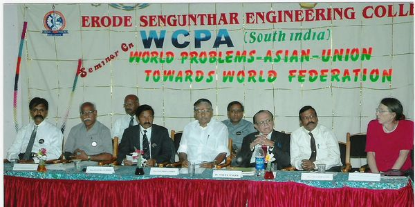 A South India Chapter of WCPA meeting in 2005.  The Director of the South India chapter is Mr. Raman