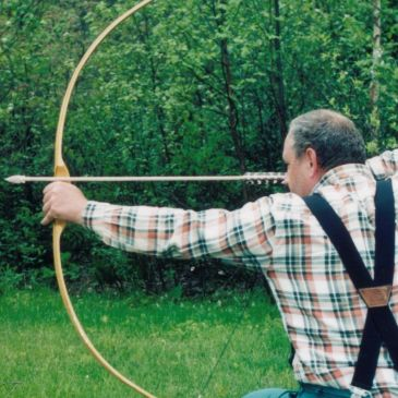 Sinew backed Yellow Birch Recurve