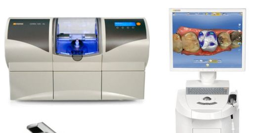 CEREC single visit dentistry.  Porcelain Crowns and inlays are made in-house with Cad Cam technology