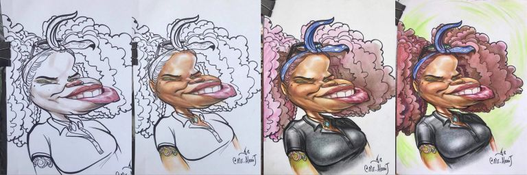 Caricature color process by Alanij