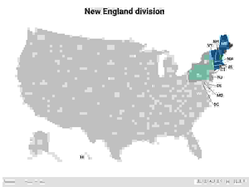 New England Equipment Appraisals Map for New England Equipment Appraisers Region