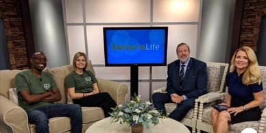 Steve Karigo and Crystal Miles from the CCRM Team  promoting our 2019 Event on Delmarva Life.
