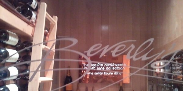 Image of wine locker at Beverly's