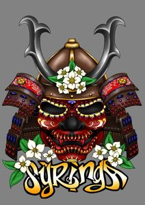 Skull Mask image with Syringa logo