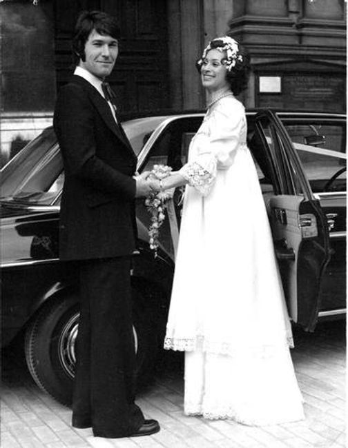 wedding, 1970s, south kensington, brompton oratory, silk wedding dress, smart husband, loved the day