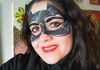 Catwoman mask face painting