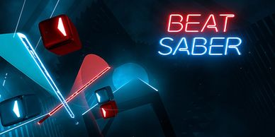 Beat Saber is a VR rhythm game where you use glowing sabers to slash adrenaline-pumping music beats.