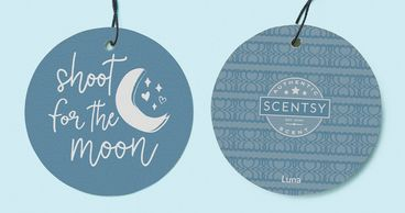 shoot for the moon scentsy luna moon hearts stars light blue