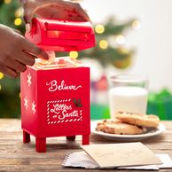 believe in santa claus letters to santa red mailbox milk and cookies christmas tree scentsy warmer
