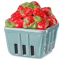 teal strawberry basket