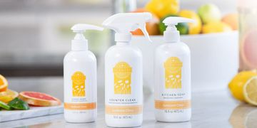 scentsy clean hand soap kitchen counter clean sunkissed ctirus lemon lime orange grapefruit white