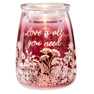 Love is all you need scentsy warmer shriners hospitals for children maroon wine flowers queen anne