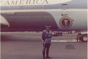 Mr. Scott with Air Force One
